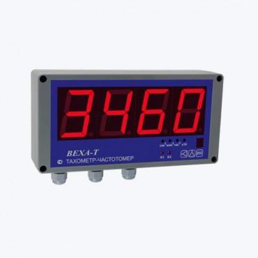 ВЕХА-Т-НТ57 - Универсальный тахометр-частотомер-счетчик времени наработки в виде настенного табло